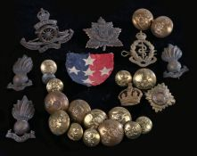 Royal Artillery Officers bronze Service Dress cap badge, Kings crown, two blades to the reverse,