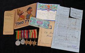 Second World War grouping to 1876902 Sapper Albert Leonard Berden of 237 Field Company Royal