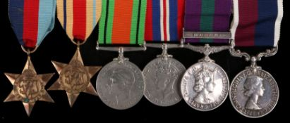 Second World War and Malaya medal group, 1939-1945 Star, Africa Star, Defence Medal, 1939-1945