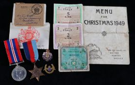 Second World War grouping , 1939-1945 Star and 1939-1945 British War Medal in original box of