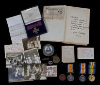 First World War family grouping to include, Order of the Royal Red Cross 2nd Class, bow mounted,