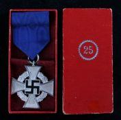 German Third Reich Faithful Service Decoration (Treudienst-Ehrenzeichen) 2nd Class in Silver for