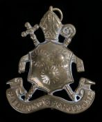 St Edmunds School Officer Training Corps cap badge, in gilding metal, two loops to the reverse
