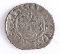 JOHN LACKLAND 1199-1216 SILVER PENNY struck in the name of his Father Henry II, short cross