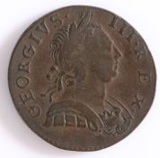 George III, Half Penny, 1774