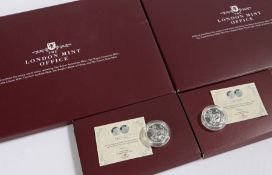 London Mint Office, Silver Sovereign, x 2, (2)