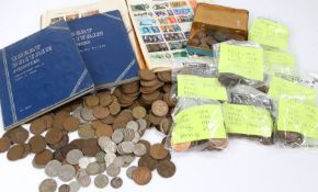Collection of coins, to include Great British Pennies, collection No 4, No 3, Victorian Six pence'