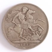 Victoria, Crown, 1890, St George and the Dragon