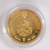 Commonwealth Nation of Ghana, gold 500 Sika, capsulated and cased