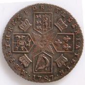 George III, Sixpence, 1787