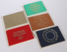 Coinage of Great Britain and Northern Island sets, to include 1972, 1973, 1974, 1975 and 1976, (5)