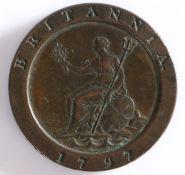 "George III Two Pence Piece ""Cartwheel"" 1797"