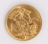 George V Sovereign, 1911, St George and the Dragon