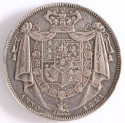 WILLIAM IV 1830-1837 Silver Crown 1831, this being a key coin for those who collect silver five
