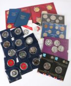 Coins collection, to include Proof £5, Royal Mint cased coin, London 2012, x 2, Decimal sets, £5
