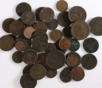 Collection of coins, to include William and Mary to Victoria, various denominations, (qty)