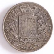 Victoria, 1844 Crown , Shield reverse