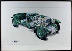 Matthew Jennings, cutaway Bentley Blower, registration GP42 (once owned by Ian Fleming), signed