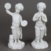 Zwei Musiker aus der Türkenkapelle - Tschinellen und Oboe, Hoechst, blaue Radma