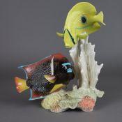 """Fischfigur """"Korallenfisch-Gruppe"""" - Goebel, Entwurf von Gerhard Skrobek (1922-2"""
