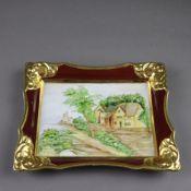 Porzellanbild - wohl Gerold & Co, Modellnr. 6002/I, rechteckige Schalenform, Ra