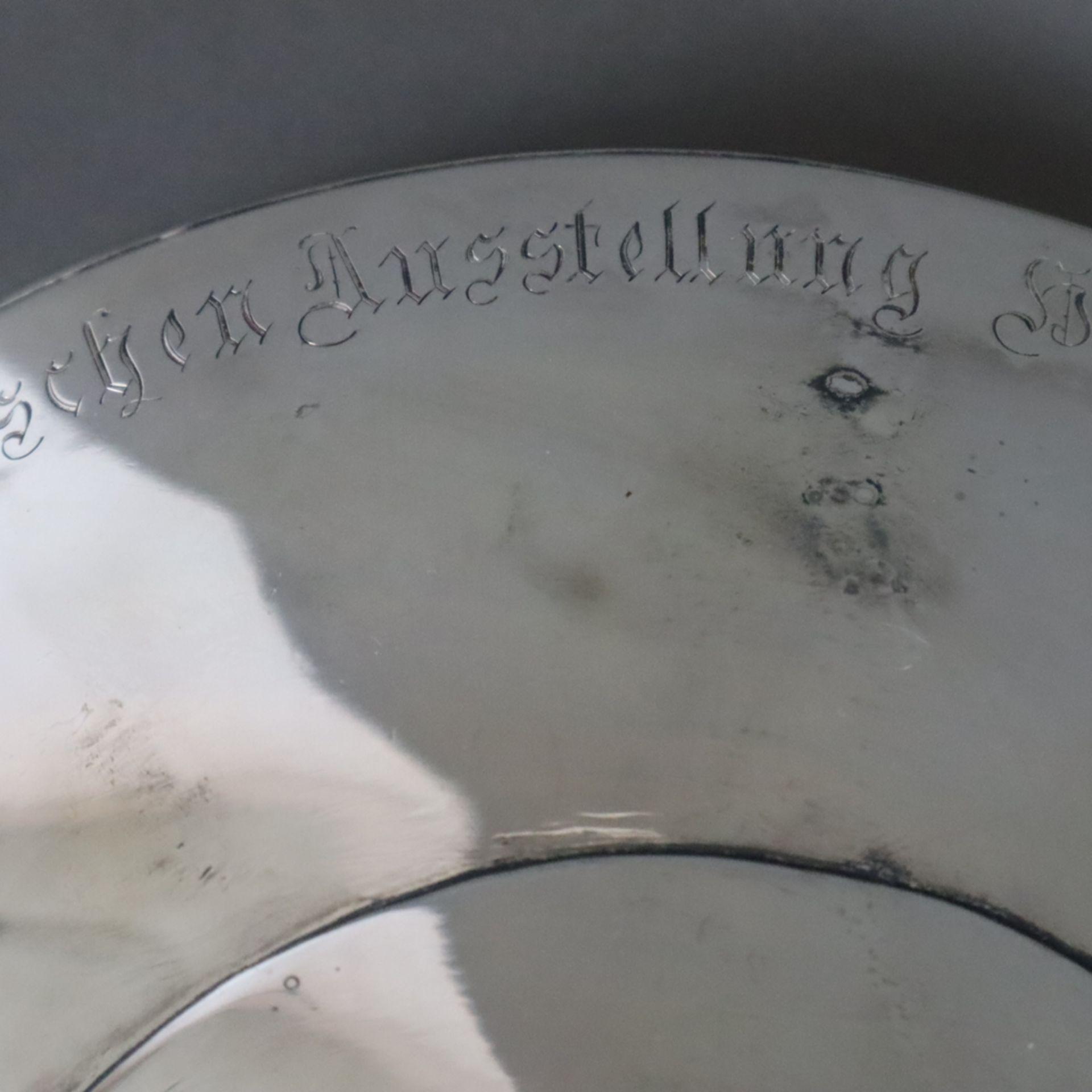 """Silber-Tafelaufsatz -deutsch, datiert 1912, umlaufende Stiftungsinschrift """"Zur Allgemeinen Deutsche - Image 9 of 12"""