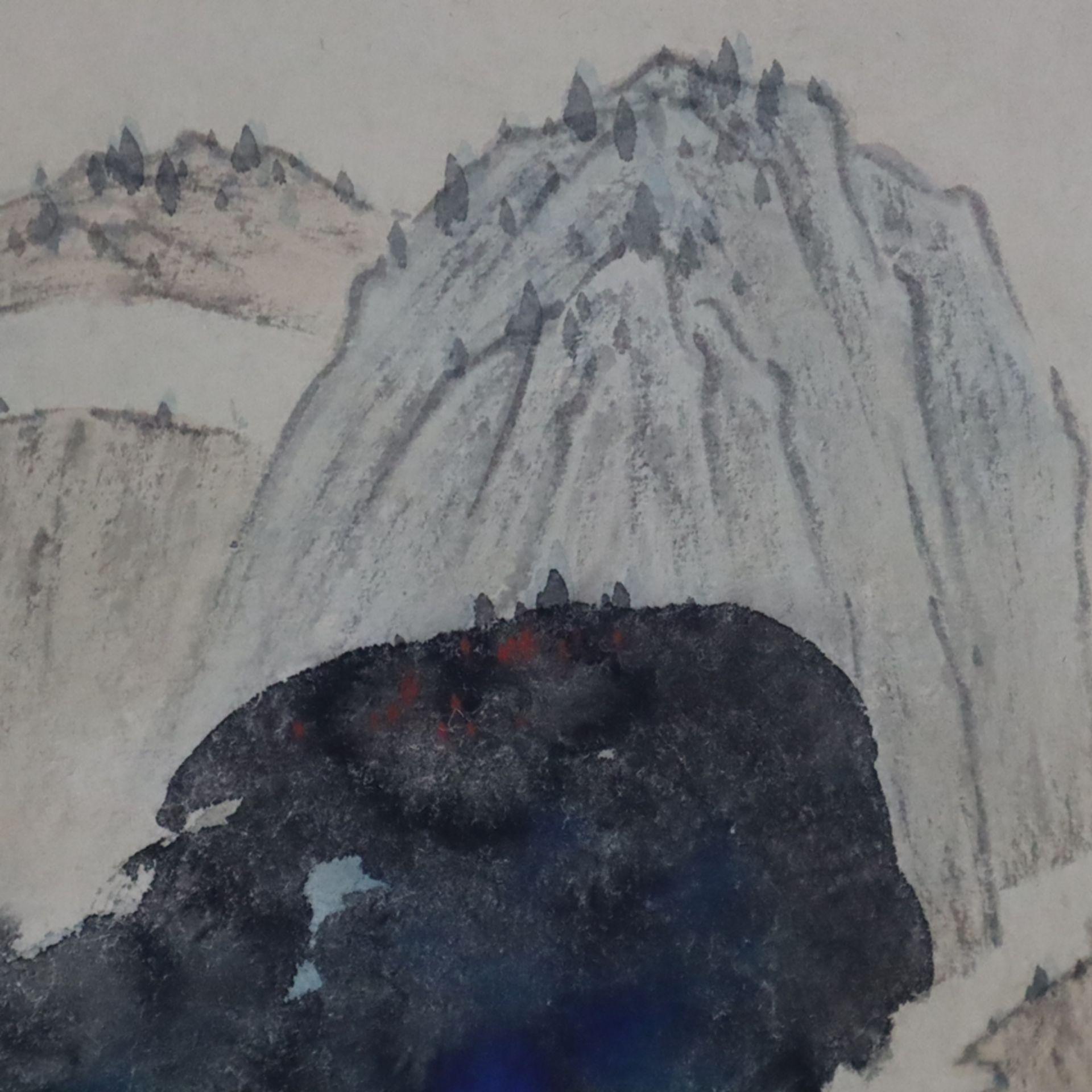 Chinesisches Rollbild - gesiegelt Zhang Daqian (   Chinese Hanging Scroll - sealed Zhang Daqian (18 - Image 11 of 18