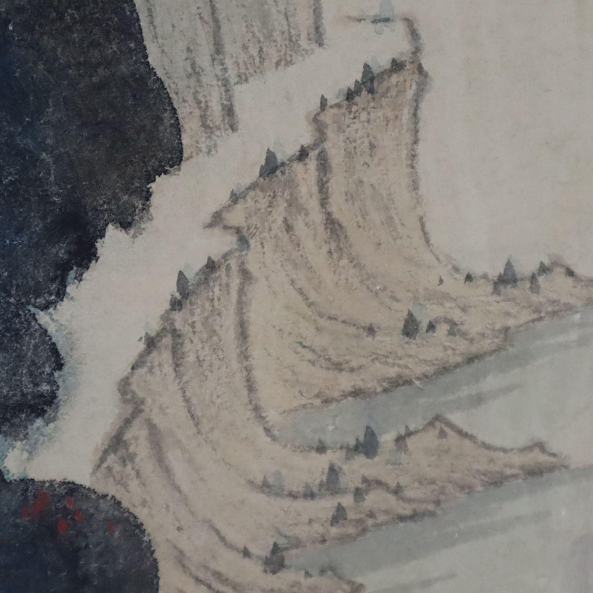Chinesisches Rollbild - gesiegelt Zhang Daqian (   Chinese Hanging Scroll - sealed Zhang Daqian (18 - Image 12 of 18