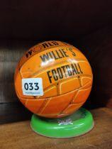 1966 TIN PLATE WILLIES FOOTBALL