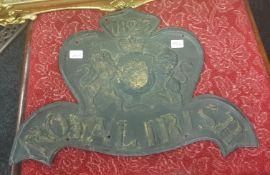ROYAL IRISH ASSURANCE COMPANY 1823/27 W618 PLAQUE