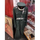 RUC ASSISTANT CHIEF CONSTABLE TUNIC, CAP, TROUSERS AND BLACKTHORN SWAGGER STICK