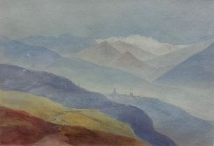SIR JG LE MARCHANT (1766-1812) - WATERCOLOUR - VICA - 7' X 9.5'