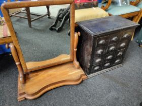 VICTORIAN MIRROR AND MINIATURE CHEST