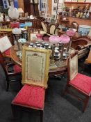 VICTORIAN PEDESTAL BREAKFAST TABLE AND CHAIRS
