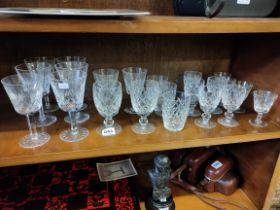 QUANTITY OF WATERFORD CRYSTAL GLASSES