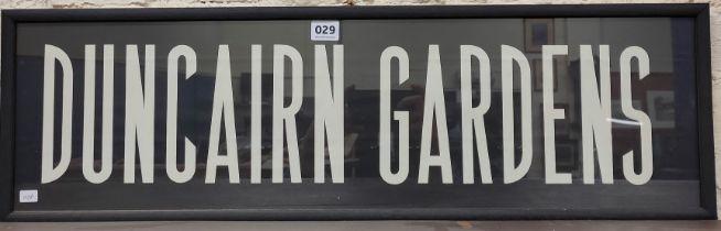 ORIGINAL TRAM SIGN - DUNCAIRN GARDENS