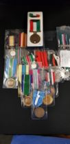 QTY OF MILITARY MEDALS