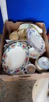 2 BOX LOTS OF PART TEA SETS
