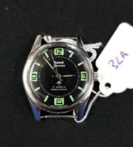 VINTAGE BRITISH ARMY MECHANICAL WATCH WITH LUMINOUS DIAL