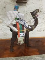 LEATHER ARAB AND CAMEL FIGURE