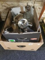 2 BOXES OF SILVER PLATE