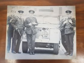 LARGE IAN PAISLEY PRODUCED SUPPORT THE ROYAL ULSTER CONSTABULARY PHOTOGRAPH