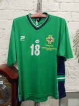 NORTHERN IRELAND MATCH WORN TOP - JEFF WHITLEY