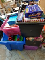 LARGE QTY OF CHILDRENS TOYS, GAMES & BOOKS