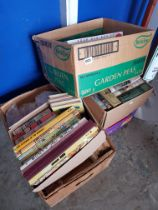 5 BOXES OF VINATGE ANNUALS, CHILDRENS BOOKS ETC TO POSSIBLY INCLUDE SOME IST EDITIONS