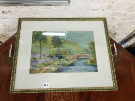 VINTAGE TAPESTRY TRAY