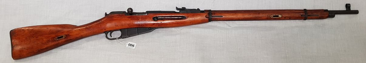 RUSSIAN USSR WW2 MOSIN NAGANT BOLT ACTION RIFLE DATED 1943 #06180