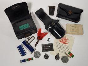 COLLECTION OF POLICE ITEMS BELONGING TO CONSTABLE MICHAEL BROCK 2087 TO INCLUDE LATE ROYAL IRISH