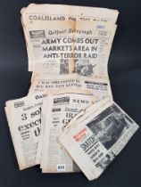 LARGE QUANTITY OF NORTHERN IRELAND TROUBLES NEWSPAPERS FROM THE 1970'S ALL OF WHICH HAVE BRITISH