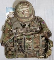 BRITISH ARMY AFGHANISTAN ISSUE MTP OSPREY MKIV FULL BODY ARMOUR WITH POUCHES, FILLER, 2 BALLISTIC